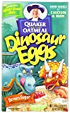 Quaker Instant Oatmeal Dinosaur Eggs, Brown Sugar Cereal, 8-Count Boxes (Pack of 4)