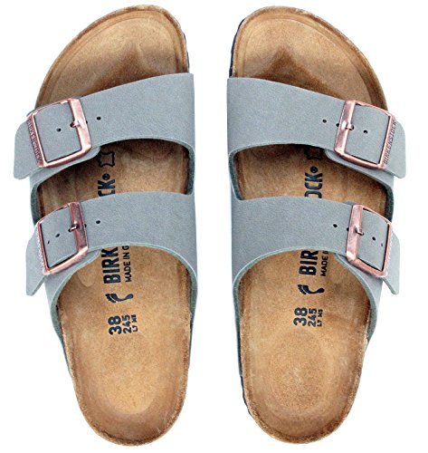 65dab16422 Birkenstock Arizona 2-Strap Women s Sandals in Stone Birko-Flor