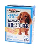 ドギーマン わんちゃんの国産低脂肪牛乳 全犬種用 200ml×24個入り 【ケース販売】