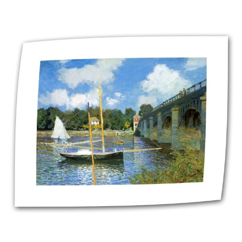 Art Wall The Argenteuil Bridge by Claude Monet 24 by 32-Inch Flat/Rolled Canvas with 2-Inch Accent Border