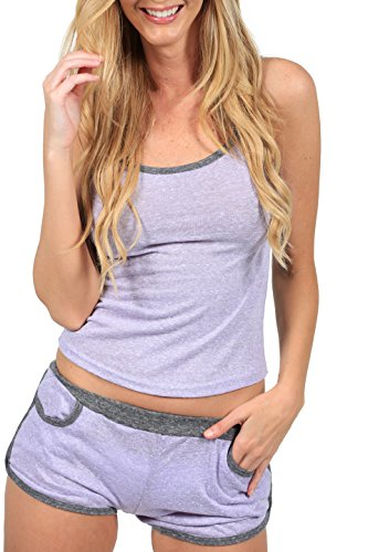 [Ingear Women's Sexy Casual Lounge Wear Two Piece Set (X-LARGE, PURPLE)] (Sexy Women In Sexy Outfits)