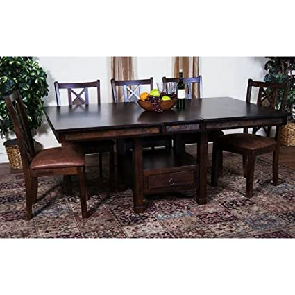 Sunny Designs 1177DC Santa Fe Butterfly Dining Table with Slate