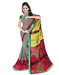Sailaxmi Fashion Women's Floral Printed Silk Saree(SLFS006_Multi-Coloured)