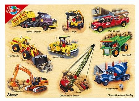 Cheap Fun Shure Construction Scenes Wooden Pegged Puzzle (B001FE302K)
