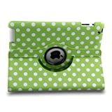 T&G Auto Sleep/Wake Function 360 Degree Rotating Multi-Angle Stand Case Cover for 7.9 inch iPad Mini/iPad Mini 2 with Retina Display with a Stylus as a Gift--Dot Style,Green