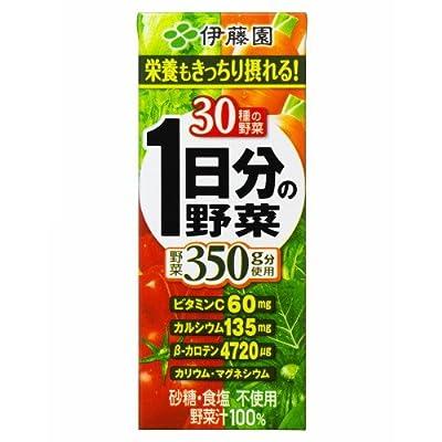 ▶︎伊藤園 1日分の野菜 (紙パック) 200ml×24本の購入はこちら♩