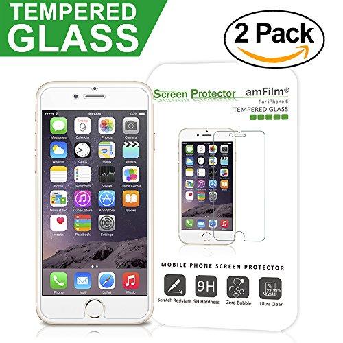iPhone 6S Screen Protector Glass (2-Pack), amFilm® iPhone
