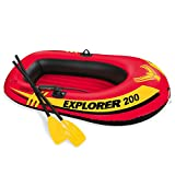 Intex Explorer 200, 2-Person Inflatable Boat Set with French Oars and Mini Air Pump