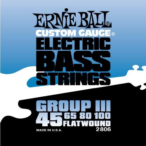Ernie Ball 2806 Flatwound Bass Set Group Iii (45 - 100)