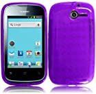 For Huawei Ascend Y H866 / M866 / H866C ( Net10 / TracFone / U.S. Cellular ) TPU Skin Case Cover Protector Purple + Free Reliable Accessory Pen Gift