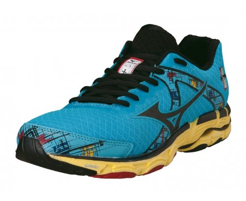 finest selection 284ff ef90d Feature of MIZUNO Wave Inspire 10 Ladies Running Shoes Blue Black US10