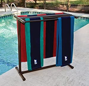 How To Make A Poolside Towel Rack
