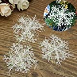 Generic 60pcs White Snowflake Christmas Tree Hanging Ornaments Holiday Decorations