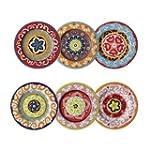 Nador Set of 6 Rim Plates 16cm Mixed...