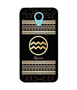 Fuson 2D Printed Sunsign Aquarius Designer back case cover for Meizu M1 Note - D4349