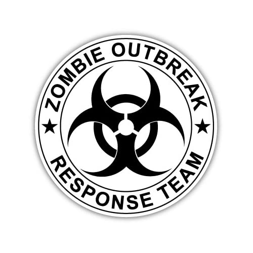 Zombie Outbreak Response Team Vinyl Car Bumper Sticker Decal 5 X 5