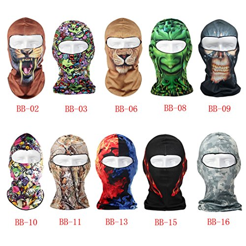 DDLBiz-Thin-3D-Outdoor-Cycling-Ski-Balaclava-Neck-Hood-Full-Face-Mask-Hat-Beanie-Animal