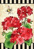 Geranium Bumble Bee Spring Summer Garden Flag 12 x 18