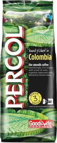 Percol Fairtrade Colombia Arabica Roast and Ground Coffee 227 g (Pack of 8)