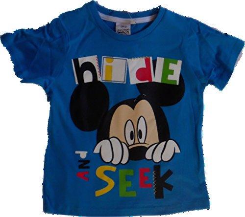Disney-Mickey-Mouse-T-Shirt-en-varios-colores-blanco-azul-rojo-tamao-98-104-116-128