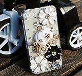 ◆3Dデコ盛り♪♪キラキラ♪ラインストーンケース/iphone5/アイフォン5/専用ケースカバー/かぼちゃの馬車B