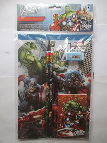 Avenger Assemble 6 Piece Sketchbook Set - 1