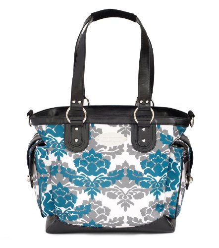 jj cole norah diaper bag teal fleur adalrico ferridook. Black Bedroom Furniture Sets. Home Design Ideas