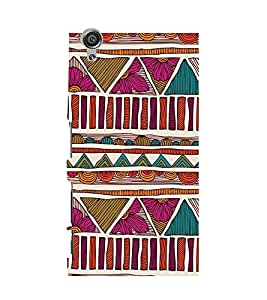 TRADITIONAL INDIAN PATTERN PIC 3D Hard Polycarbonate Designer Back Case Cover for Sony Xperia X::Sony Xperia X Dual F5122 with dual-SIM card slots