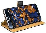 mumbi Ledertasche im Bookstyle für Samsung Galaxy S6 Edge+