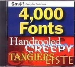 Topics Entertainment 4,000 Fonts (CD)