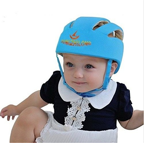Happy-hongtai Infant Baby Toddler Safety Helmet Kids Head Protection Hat for Walking Crawling Baby Children Infant Adjustable Safety Helmet Headguard Protective Harnesses Cap - Blue (Walker Radiator compare prices)