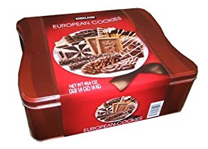 European Cookies with Belgian Chocolate 15 Varieties Tin Net Wt 1.4 kg (49.4 ...