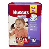 Huggies Little Movers Diapers, Jumbo Pack, Size 6, 35+ lbs, 18 ea 1 pack