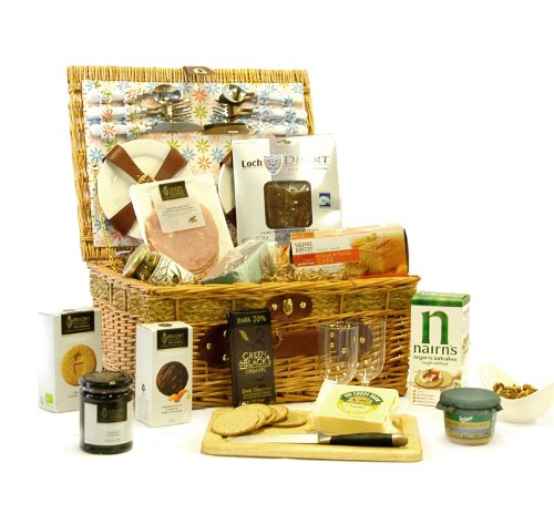 Burlington Luxury Picnic Hamper with Gourmet Organic Foods