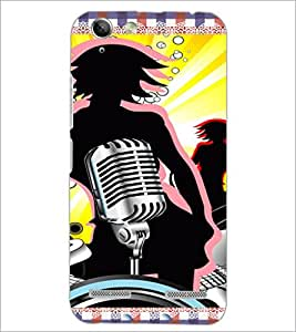 PrintDhaba Music D-4216 Back Case Cover for LENOVO VIBE K5 (Multi-Coloured)