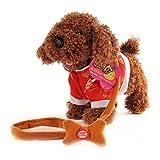 Electric leash dog plush toy dog music robot dog remote children's toys electronic pet dog walking