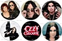 "Set of 6 OZZY OSBOURNE Pinback Buttons 1.25"" Pins Black Sabbath Heavy Metal"