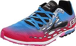 Brooks Women\'s Mach 14 Spikeless Running Shoe,Neon Magenta/Neon Blue/Black,7 B US
