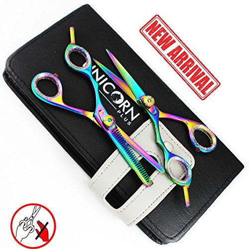 new-arrival-multi-titanium-2-x-professional-hairdressing-set-55-inch-left-handed-barber-salon-scisso
