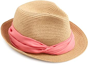 Genie by Eugenia Kim Women's Darcy Braid Fedora Hat, Camel/Coral, One Size