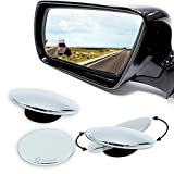 Zone Tech Blind Spot Adjustable Mirrors - 2-Pack Premium Quality Blind Spot Mirror Adjustable Stick-On Exterior Side Mirror for All Cars Motorcycles Trucks Snowmobiles
