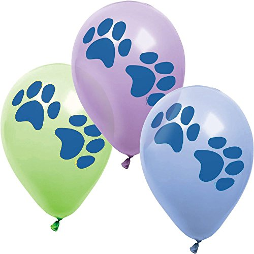 Amscan BB101065 Party Pups Latex Balloons