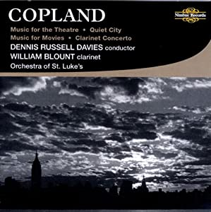 Music For The Theatre Quiet City Music For Movies Clarinet Concerto from Nimbus