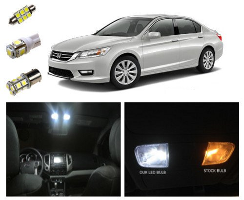 13+ Honda Accord LED Package Interior + Tag + Reverse Lights (10 pieces)