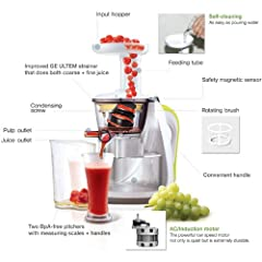 Hurom HU-100 Slow Juicer with Cookbook