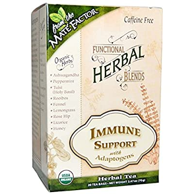 The Mate Factor Immune Support with Adaptogens, 20 Count
