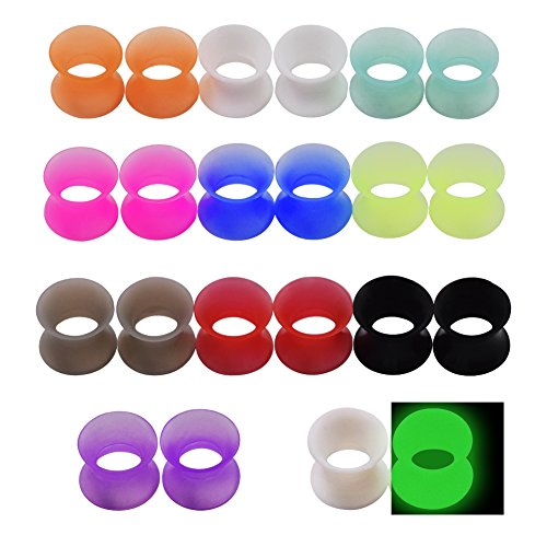 Longbeauty 11 PAIRS- EAR GAUGES-EAR PLUGS-FLESH TUNNELS HOLLOW DOUBLE FLARED EXPANDER PIERCING 16MM (5 8 Gauge Ear Plugs compare prices)