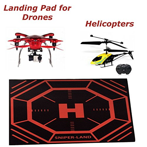 Landing Pad For Drone, Apache Helicopter Toys Quadcopter and Syma Drones With Cameras. The Perfect Flying Drones Accessory. Protect Your Drone and Camera. The Perfect Gift for Any Drone Enthusiast. Take Off and Land Your Drone Anywhere. Money Back Guarantee