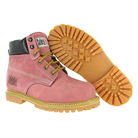 The Safety Girl Steel Toe Waterproof Work Boots are durable boots specifically made for women. These boots feature a nubuck upper, double color rubber outsole, and a waterproof membrane to keep your feet dry and comfortable throughout the day. The Sa...