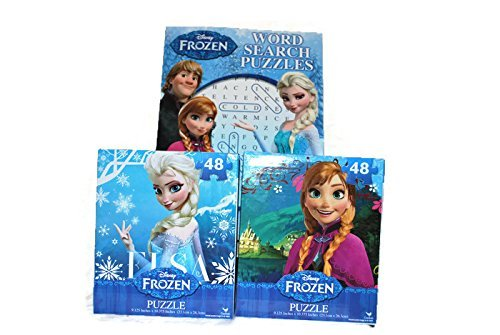 Disney Frozen Bundle 3 Pack 48 Piece Puzzle and Puzzle Book